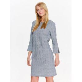 Top Secret šaty dámské šedé s 3/4 rukávem