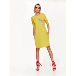 Top Secret šaty dámské žluté s 3/4 rukávem