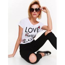 Top Secret Jeansy dámské tmavé s průstřihy na kolenou