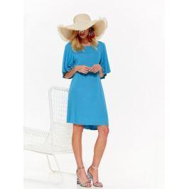 Top Secret šaty dámské tyrkysové s širokým krátkým rukávem