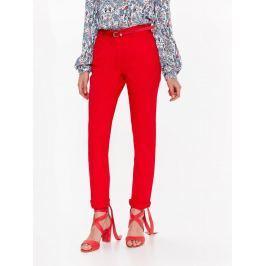 Top Secret Kalhoty dámské červené s páskem