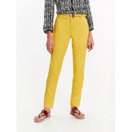 Top Secret Kalhoty dámské žluté s páskem