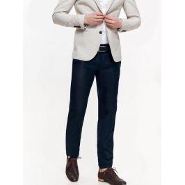 Top Secret Kalhoty pánské tmavě modré společenské