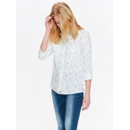 Top Secret Košile dámská bílá s jemným vzorem