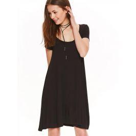 Top Secret šaty dámské černé s krátkým rukávem