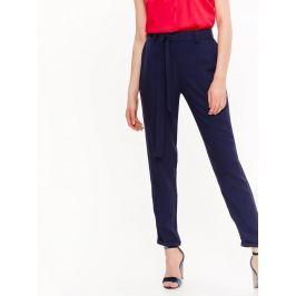 Top Secret Kalhoty dámské společenské tmavě modré s páskem