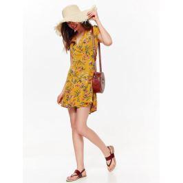 Top Secret šaty dámské žluté s květinovým potiskem