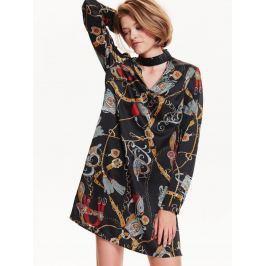 Top Secret šaty dámské s chokerem a dlouhým rukávem