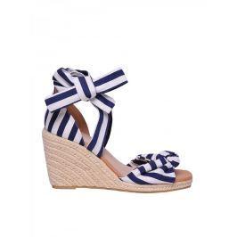 Top Secret Sandály dámské pruhované na klínu