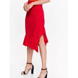 Top Secret Sukně dámská červená s volánkem