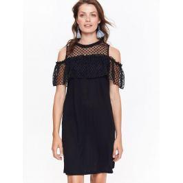 Top Secret šaty dámské černé elegantní s průstřihy na ramenou