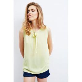 Moodo Košile dámská s vázačkou bez rukávu