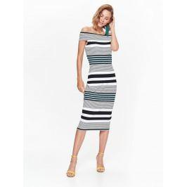 Top Secret šaty dámské pruhované s odhalenými rameny