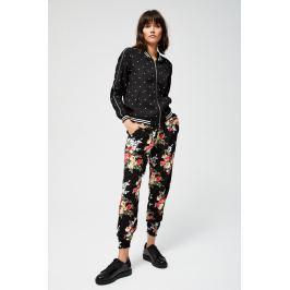 Moodo Kalhoty dámské květované z viskózy