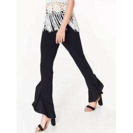 Top Secret Kalhoty dámské černé s volánkem