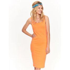 Top Secret šaty dámské oranžové MIDI bez rukávu