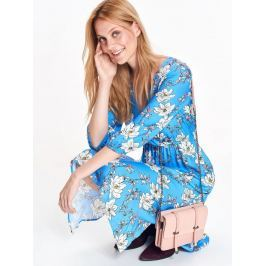 Top Secret šaty dámské květované dlouhé MIDI s gumou v pase a 3/4 rukávem