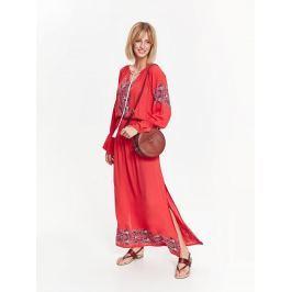 Top Secret šaty dámské dlouhé MAXI s gumou v pase a dlouhým rukávem