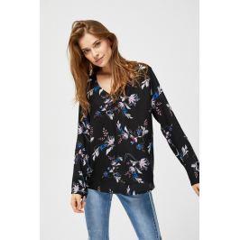 Moodo Košile dámská černá s douhým rukávem
