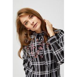 Moodo Košile dámská kostkovaná s douhým rukávem