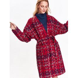Top Secret Kabát dámský červený se vzorem