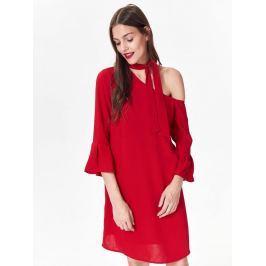 Top Secret Šaty dámské červené s odhaleným ramenem