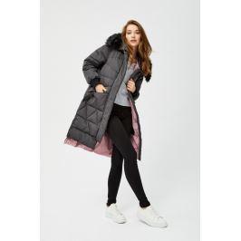 Moodo Bunda dámská s kožíškovou kapucí