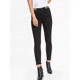 Top Secret Kalhoty dámské černé zdobené v pase
