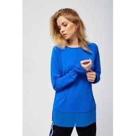 Moodo Košile dámská s dlouhým zavazovacím rukávem