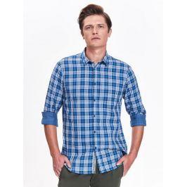 Top Secret Košile pánská kostkovaná se vzorem a dlouhým rukávem