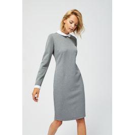 Moodo šaty dámské s límečkem a dlouhým rukávem