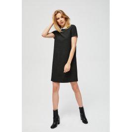 Moodo šaty dámské s límečkem a krátkým rukávem