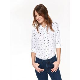 Top Secret Košile dámská bílá s dlouhým rukávem