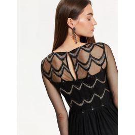 Top Secret Šaty dámské zdobené s dlouhým průstvitným rukávem