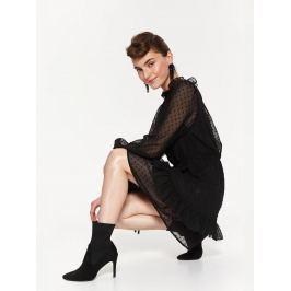 Top Secret Šaty dámské krajkové s dlouhým průstvitným rukávem