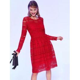 Top Secret Šaty dámské červené z krajky