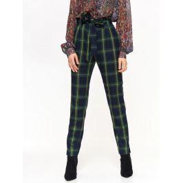 Top Secret Kalhoty dámské kostkované s páskem