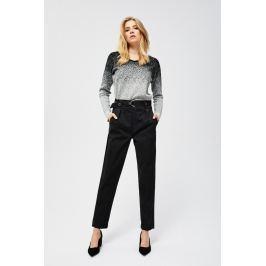 Moodo Kalhoty dámské černé s páskem