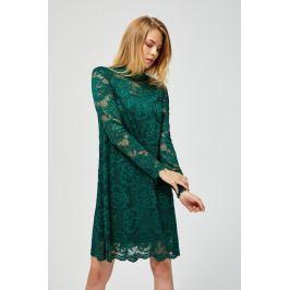 Moodo šaty dámské s krajkou a dlouhým rukávem