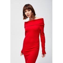 Moodo šaty dámské s odhalenými rameny a dlouhým rukávem