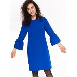 Top Secret Šaty dámské modré s volánkovým rukávem