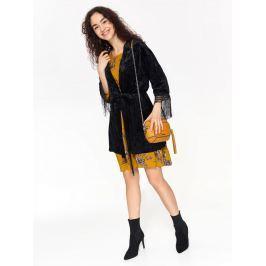 Top Secret Sako dámské černé se zavazovacím páskem