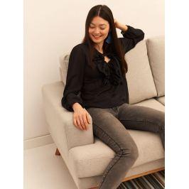 Top Secret Košile dámská černá s volánkem