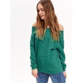 Top Secret Mikina dámská zelená s odhalenými rameny