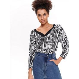 Top Secret Halenka dámská se vzorem zebry