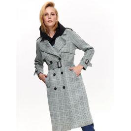 Top Secret Kabát dámský vzorovaný šedý