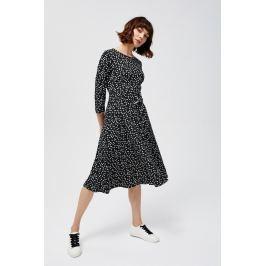 Moodo šaty dámské MIDI s ppuntíky a páskem