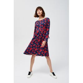 Moodo šaty dámské s dlouhým rukávem a vázankou