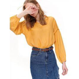 Top Secret Halenka dámská žlutá s dlouhým rukávem