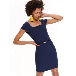 Top Secret Šaty dámské tmavě modré s páskem